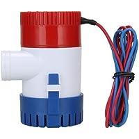 Bomba de agua sumergible NUZAMAS para caravanas, barcos, piscinas y fuentes 12 V 1100GPH, 29 mm