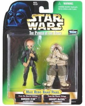 Wars Star Band Max Rebo - Star Wars Max Rebo Band Pairs Barquin D an Droopy Mccool Action Figures By Kenner