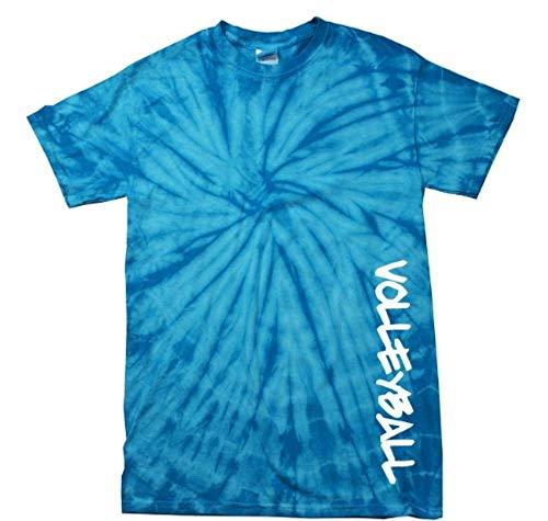 Volleyball T-Shirt Volleyball in White -Bluetiedye-XL