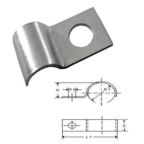 Kabelfixierung f/ür Kabel bis /Ø 6 mm FKAnh/ängerteile 50 x Kabelschelle