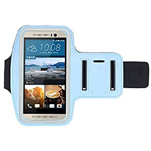 Willtoo(TM) New Sports Gym Armband Arm Band Case Cover for HTC One M9 Light Blue