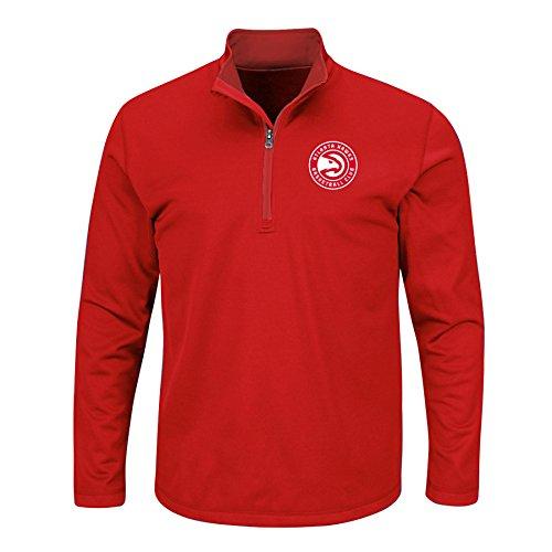 046967fbccf NBA Atlanta Hawks Men s B T Team 1 4 Zip Birdseye Poly Shirt