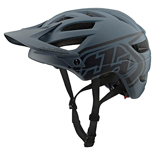 Troy Lee Designs Adult | Trail | Enduro | Half Shell A1 Drone Mountain Biking Helmet (Medium/Large, Gray/Black)