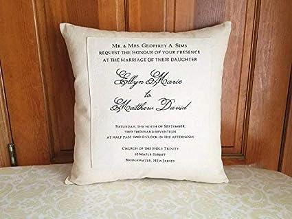 Amazon.com: Athena Bacon - Funda de almohada para boda ...