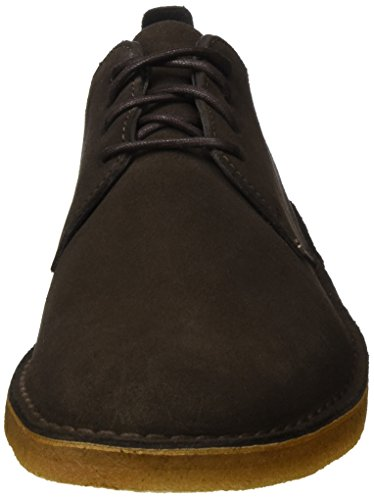 Suede Stringate Dark Brown Clarks Basse Scarpe London Marrone Originals Uomo Desert gxw1nqR4v