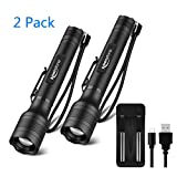 Brightest LED Flashlights Rechargeable, Waterproof 1500 High Lumen Tactical Flashlight with 5 Light Modes and Pocket Clip for Emergency, Camping, Hiking (18650 Battery and Charger Included)