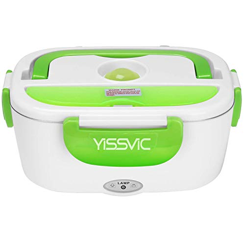 YISSVIC Electric Lunch Box Food Heater 40W 12V Car-use Charging Adapter Portable Lunch Heater with Removable Stainless Steel Container Food Grade Material