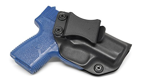 Concealment Express IWB KYDEX Holster: fits Kahr PM9 - Custom Fit - US Made - Inside Waistband - Adj. Cant/Retention (BLK, Right)