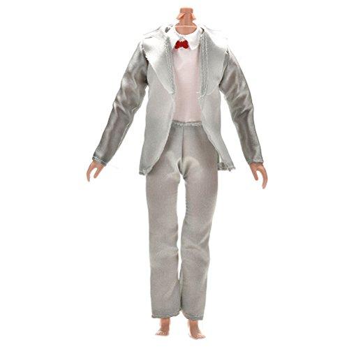 1 Set Prince Doll Suit Clothes for Barbie Ken Dolls By (Team Set Ken)