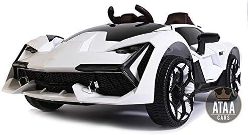 Spectaculaire Voiture /électrique Super Sport de Grande Dimension avec t/él/écommande de contr/ôle Parental Jaune ATAA F1 Racing avec t/él/écommande et Batterie 12v