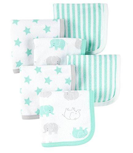 Carters Just Baby Washcloths Elephants