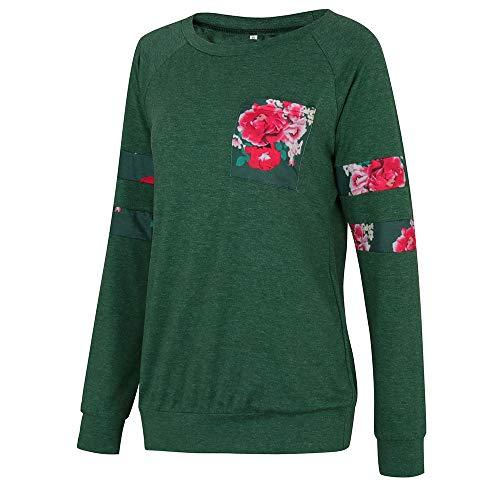 E3201233 Femmes Manches Shirt B Kangrunmys Chemisier Longues T pour wq41xp0nf7