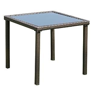 Amazon Com Tangkula Wicker Table Outdoor Patio Balcony