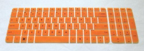BingoBuy Semi-Orange Ultra Thin Backlit Soft Silicone Keyboard Protector Skin Cover for 17.3-inch HP Pavilion ENVY dv7-7 dv7t-7 g7-2 m7-1 series, such as dv7-7230us, dv7-7240us, dv7-7255dx, dv7-7250us, dv7t-7300, g7-2340dx, g7-2226nr, g7-2275dx, m7-1015dx(if your