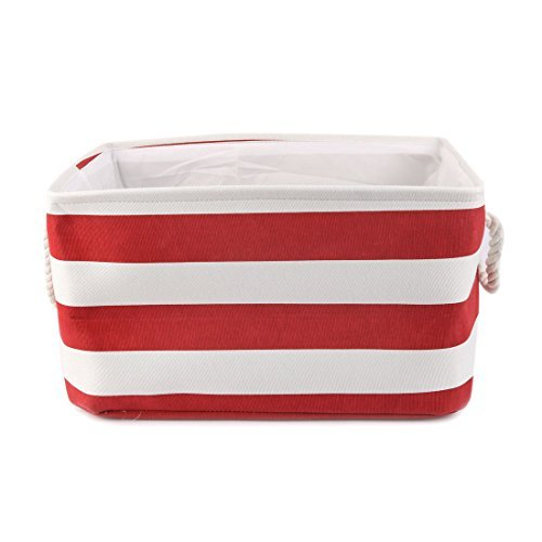Deal Mux Fabric Storage Baskets, Laundry Basket, Collaps ible Organiseur Bedroom suis W Dual Handles For Office, Closet, Kitchen Toy Clothes (Rouge, S)