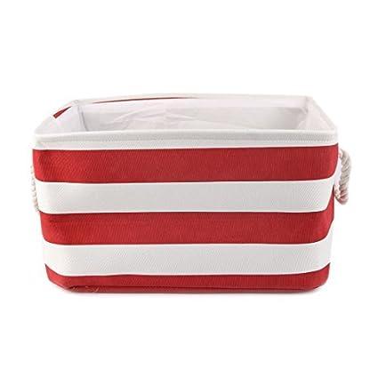 eDealMax Cestas almacenaje de la Tela, la cesta de lavadero, dormitorio Organizador plegable Bin