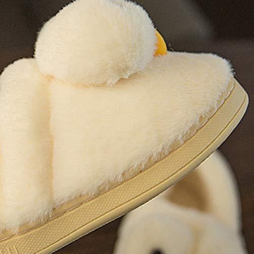 intérieur Blanc Femme Chaussures Polaire en épais l'accouchement dérapant Lune Femme Maison 40 Fond Femme Pantoufles Sac Pantoufles après à Taille 39 Couleur Coton TD Blanc la Enceinte Anti gq6Zw7w