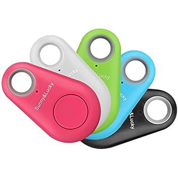 2pcs Smart Finder Bluetooth Locator Pet Tracker Alarm Wireless Anti-lost Sensor Remote Selfie Shutter Seeker for Kids Bag Wallet Keys Car SmartPhone[Random color]