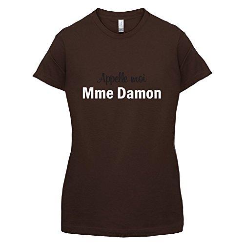 Apelle Moi Madame Damon - Femme T-Shirt - Maron Foncé - M