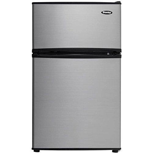 Energy Star Compliant Freezers - Danby Energy Star 3.2 cu. ft. Dual-Door Compact Refrigerator/Freezer in Stainless/Black