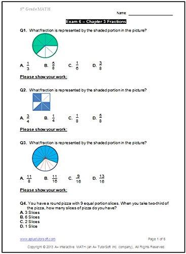 5th Grade Math Workbook (Printed B&W Plasti-coil bound) (138 ...