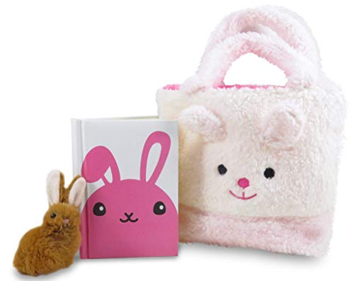 Cute Easter Bunny - Daiso Japan Cute Easter Bunny Rabbit Plush Purse Pouch with Handles 6.5