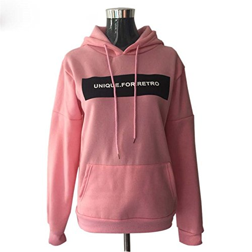 Leng Fashion Women Autumn Winter Casual Double Hoodies Long Sleeve Female Pullover Tops Sweatshirts Women's Clothings New Pink1X-Large