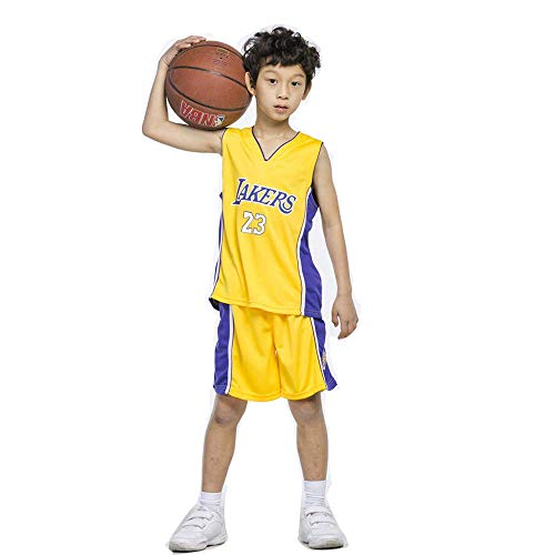 (V-mix Boys #23#23#30 Basketball Jersey 2-Piece Performance Tank Top and Shorts Set)