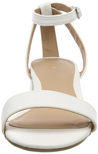 Look Cheville White Femme 10 Bride Sandales New White Snakey dzPqda