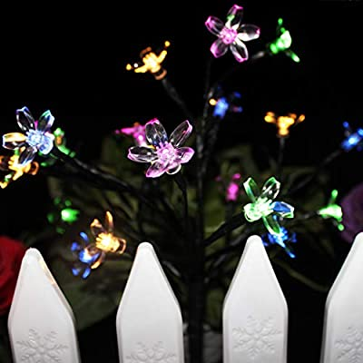 LED Garden Lights, Outdoor In-ground Lights Landscape Lighting Stainless Steel Pathway Lights for Walkway Patio Yard Lawn Driveway Flowerbed Courtyard Decoration,Colorful