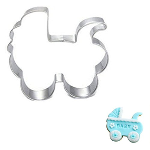 WJSYSHOP Baby Carriage Stroller Cookie Cutter Stainless Steel