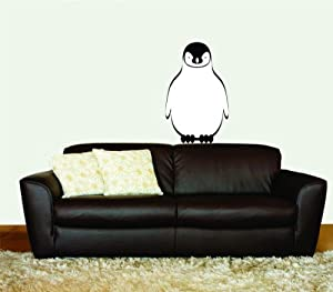 Removable Wall Decals u2013 Penguin Animal Children Kids Bedroom Classroom 22 Colors Available 10X20 & Amazon.com: Removable Wall Decals u2013 Penguin Animal Children Kids ...
