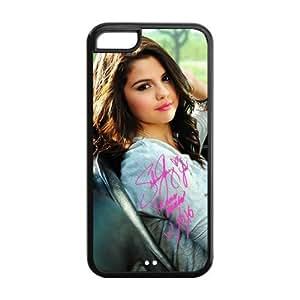 Customize Selena Gomez TPU Snap On Case For Iphone 5c (Black, White)