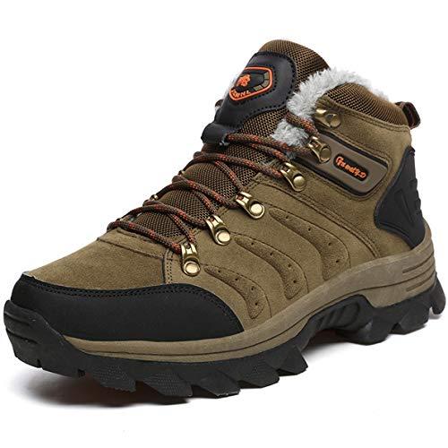- GanQuan2018 Men's Ankle Boot Slip On Warm Waterproof Anti-Slip Hiking Boots