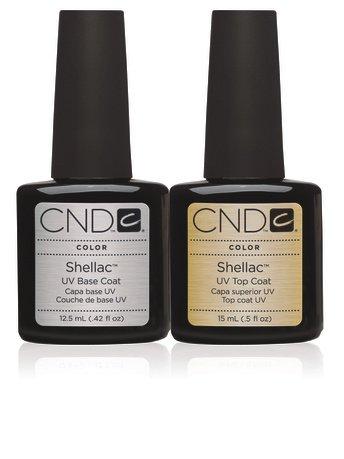 CND Shellac **LARGE**: TOP COAT 15ML + BASE COAT UV 12.5ml