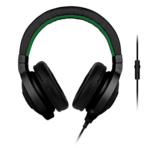 (Razer Kraken Pro - Noise Isolating Analog Black Gaming Headset with Retractable Mic - Compatible with PC, Xbox One & Playstation 4)