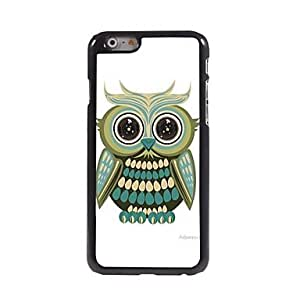 YXF Cartoon Lovely Owl Pattern Aluminum Hard Case for iPhone 6