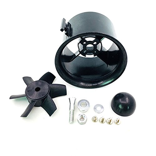 JFtech 6-Blade 70mm Duct Fan Unit Propeller Kit Set for RC Ducted Fan EDF Jet AirPlane Aircraft (Ducted Planes Fan)