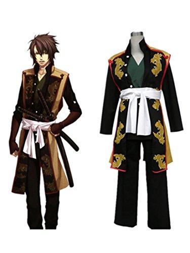 [Love Hakuouki Cosplay Costume-Okita Souji 6Pcs Set] (Okita Souji Cosplay Costume)