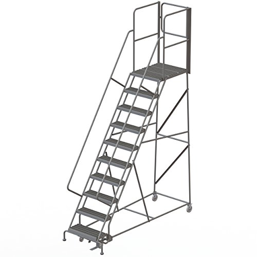 Tri-Arc RWSR110242-XR 10-Step Gateway Rear-Exit Steel Rolling Ladder with 30