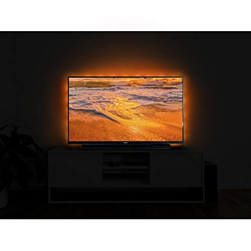 TV Bias Lighting,LED Strip Light USB Powered for 30 to 40 Inches HDTV, TV Backlight Kit with 24keys Remote 20 Color Options and Dimmable LED Lights ()