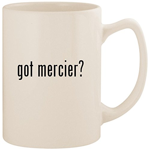 got mercier? - White 14oz Ceramic Statesman Coffee Mug Cup
