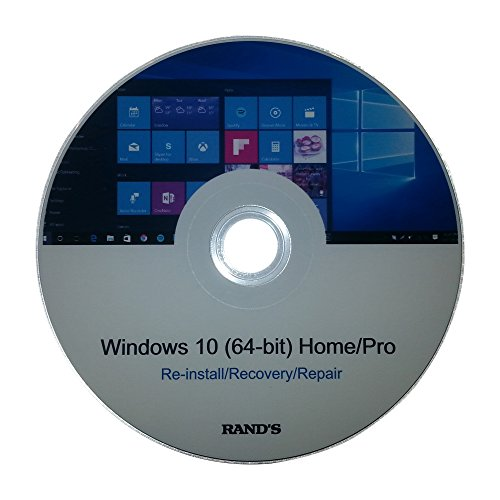 Windows 10 64-bit Home and Pro Re-install, Recovery, Repair Disc by RAND'S by RAND'S