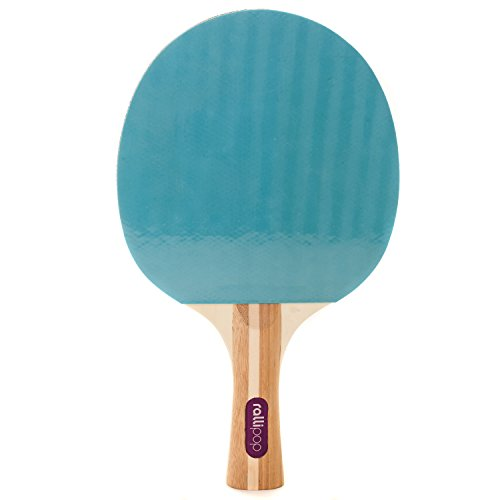 Rallipop | 3-Star Ping Pong Paddle - Premium Table Tennis Racket with Rubber Surface - Perfect Blade for Beginner Through Expert Levels (Blueberry)