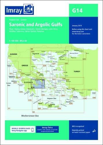 Imray Chart G14: Saronic and Argolic Gulfs (G Charts)