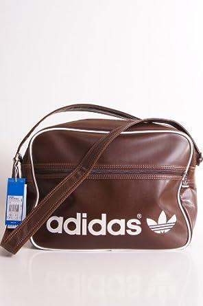 b1e9b0529a95f adidas Tasche AC Airline Bag braun weiß Größe  One Size  Amazon.de ...