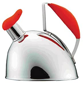 Calypso Basic 2-qt. Whistling Tea Kettle Color: Red