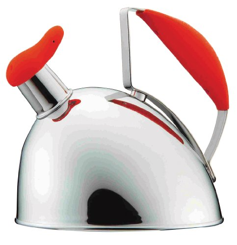 Calypso Basic 2-qt. Whistling Tea Kettle Color: Red