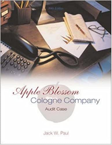 Apple blossom cologne company audit case jack paul 9780072844504 apple blossom cologne company audit case 5th edition fandeluxe Gallery