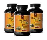 Anxiety Relief and Depression - Hemp Oil Pills for Anxiety - Hemp Oil for Sleep and Anxiety - 3 Bottles 360 Liquid Capsules
